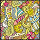 2 Holiday Doodles Seamless Pattern - GraphicRiver Item for Sale