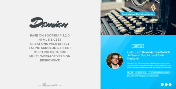 Demian - Bootstrap Portfolio Responsive Template