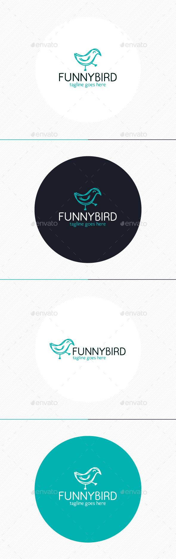 GraphicRiver Funny Bird Logo 9802874
