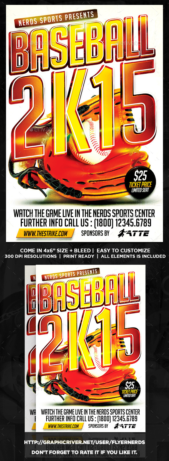 GraphicRiver Baseball 2K15 Sports Flyer 9764454
