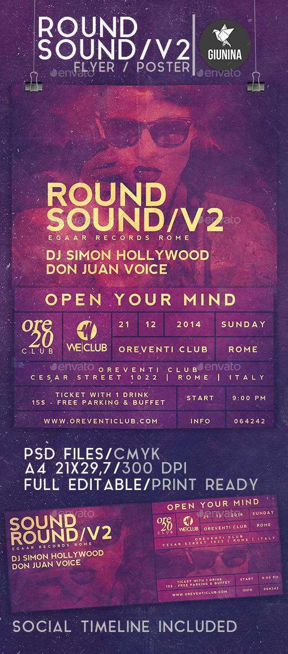 GraphicRiver Sound Round Vol.2 Flyer Poster 9803016
