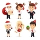 Office Workers Celebrating the New Year - GraphicRiver Item for Sale