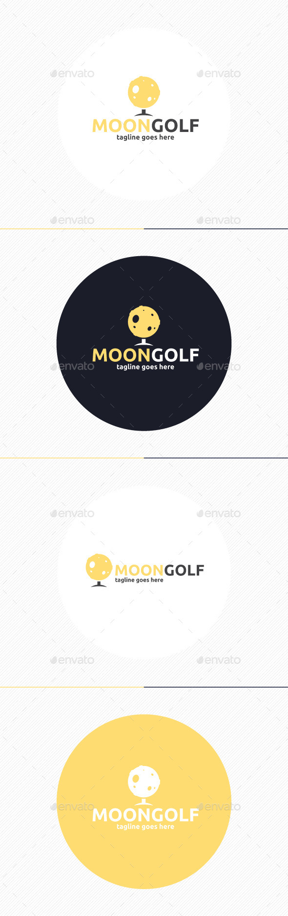 GraphicRiver Moon Golf Logo 9803031