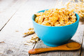 cornflakes on wooden table - PhotoDune Item for Sale