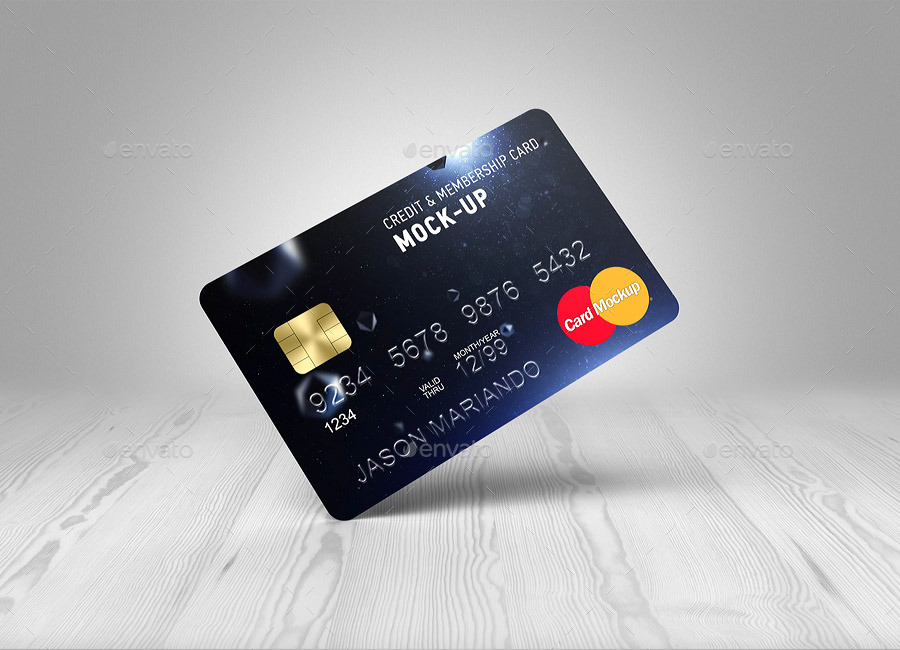 credit bank card mock up by ayashi graphicriver. Black Bedroom Furniture Sets. Home Design Ideas