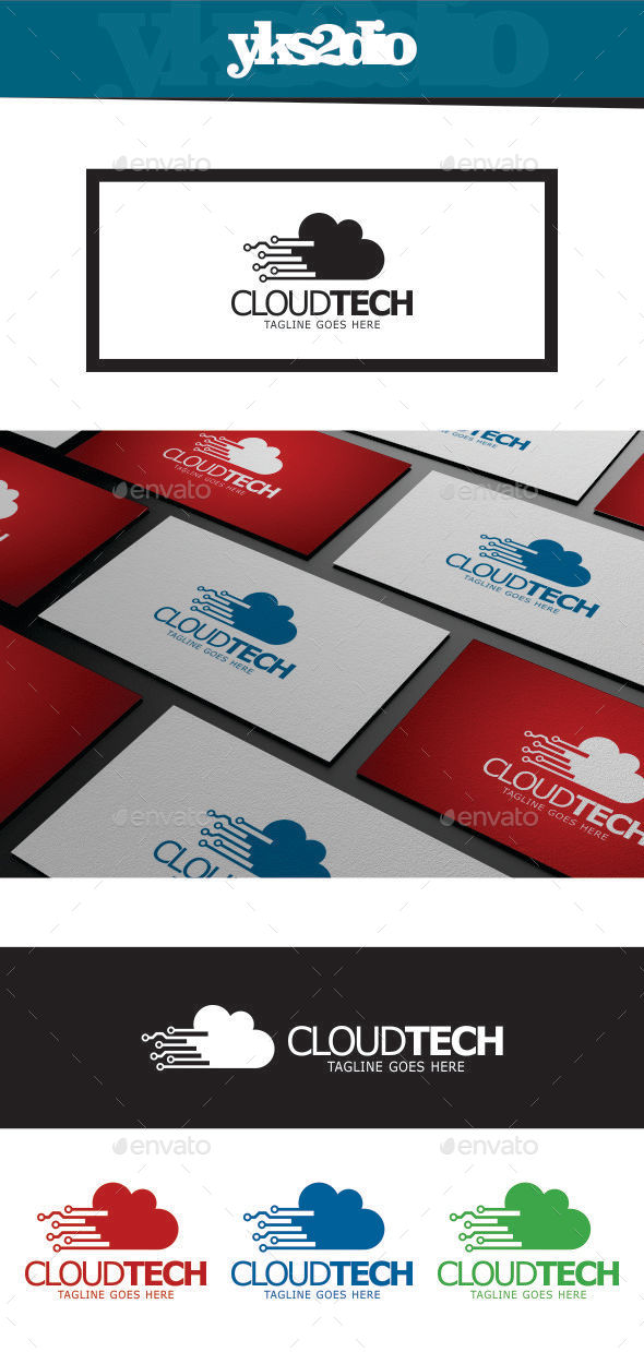 GraphicRiver Cloud Technology Logo 9804289