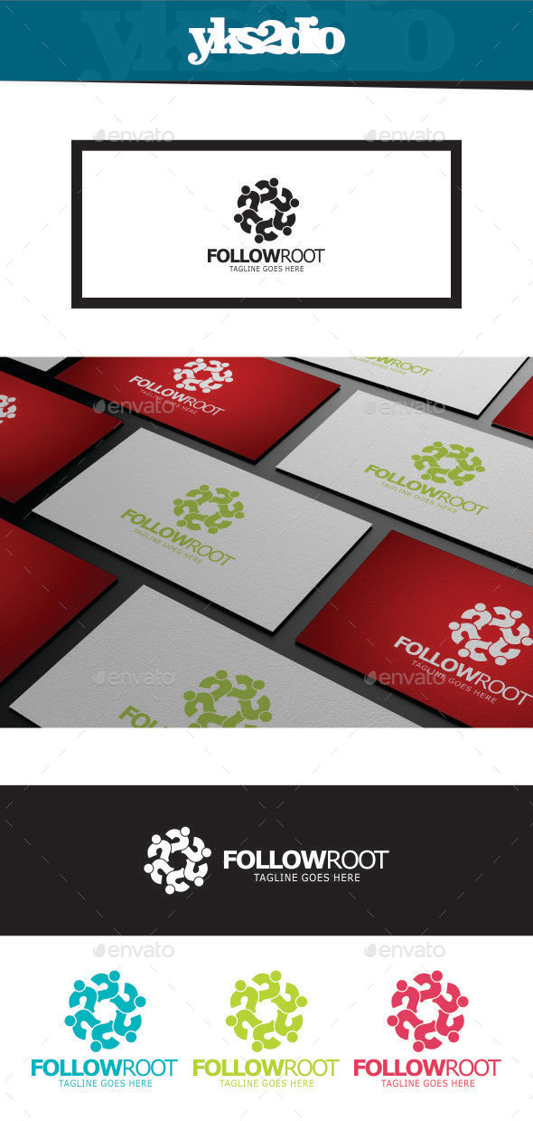 GraphicRiver Follow Social Logo 9804301