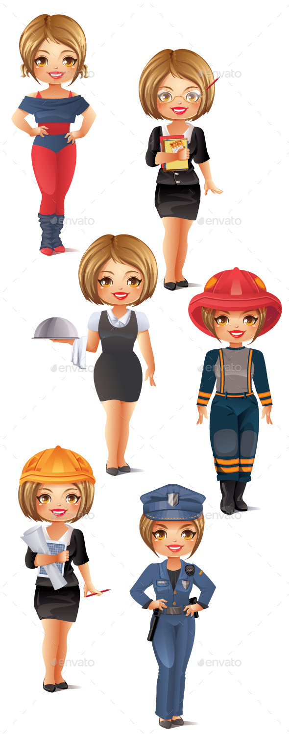 GraphicRiver Professions Set 3 9804307