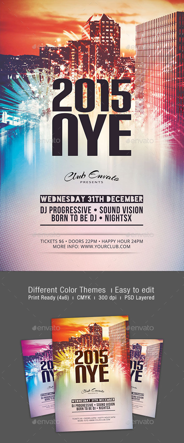 GraphicRiver 2015 NYE Flyer 9804315