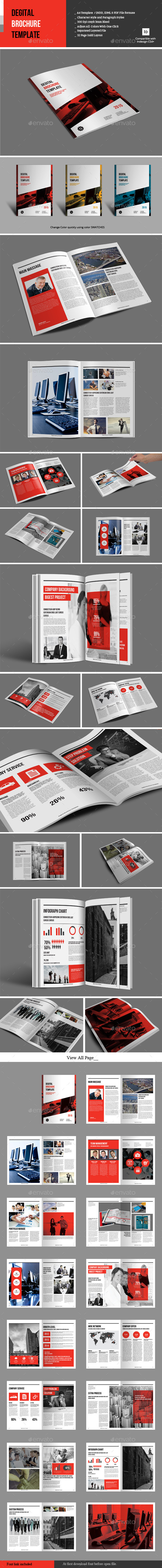 GraphicRiver Degital Brochure Template 9804380