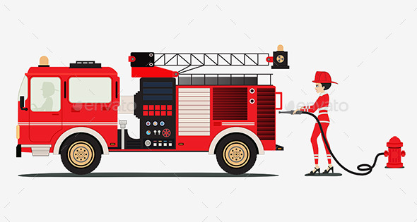 GraphicRiver Fire Truck 9804396