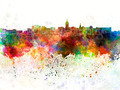 Lansing skyline in watercolor background - PhotoDune Item for Sale