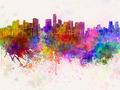 Mexico City skyline in watercolor background - PhotoDune Item for Sale