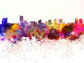 Windsor skyline in watercolor background - PhotoDune Item for Sale