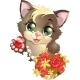 Kitten and Flower - GraphicRiver Item for Sale