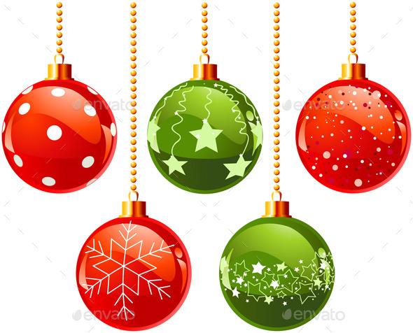 GraphicRiver Color Christmas Baubles 9804883