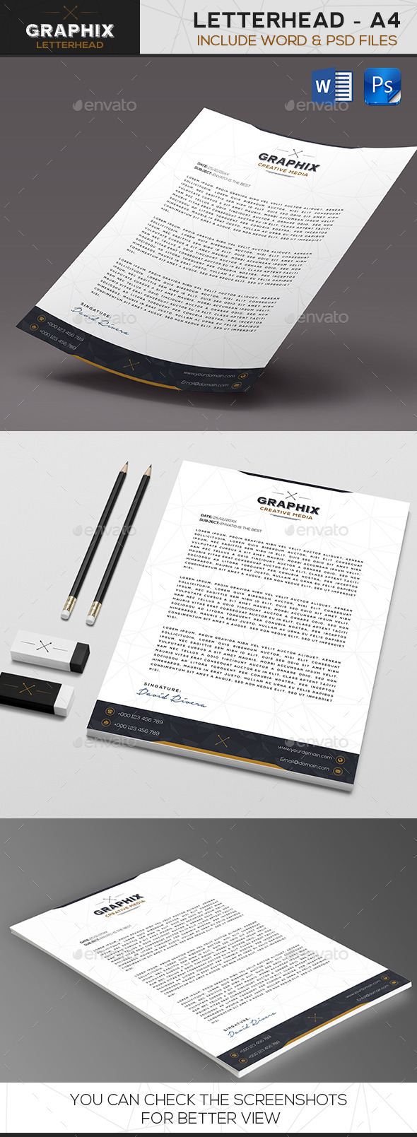 GraphicRiver Graphix Creative Letterhead 9804995