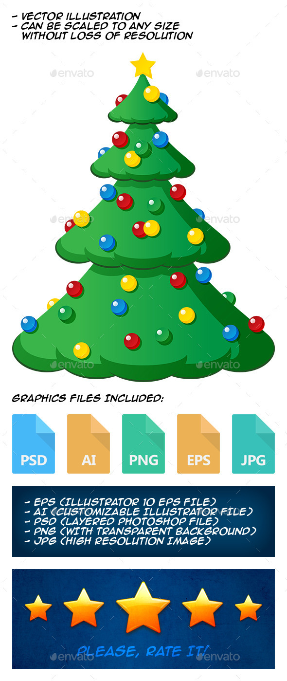 GraphicRiver Christmas Tree 9805216