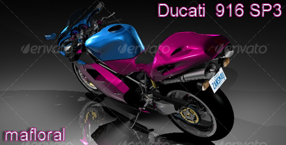 Ducati 916 SP3 - 3DOcean Item for Sale