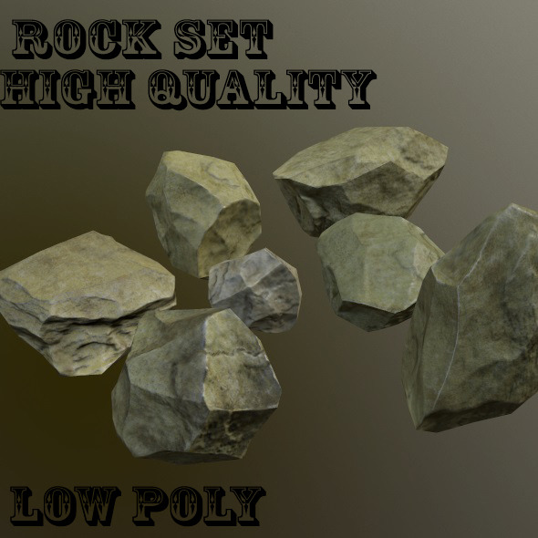3DOcean Rock Set 9805573