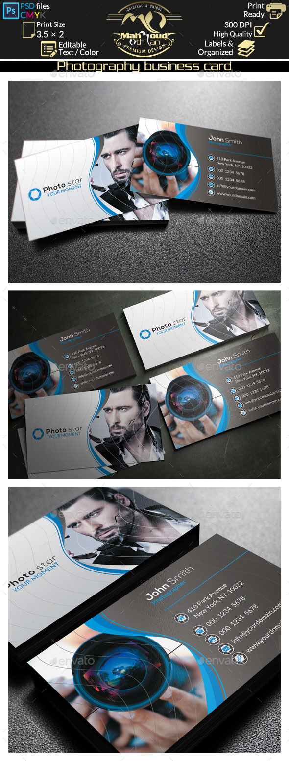 GraphicRiver Photography Business Card 9805575