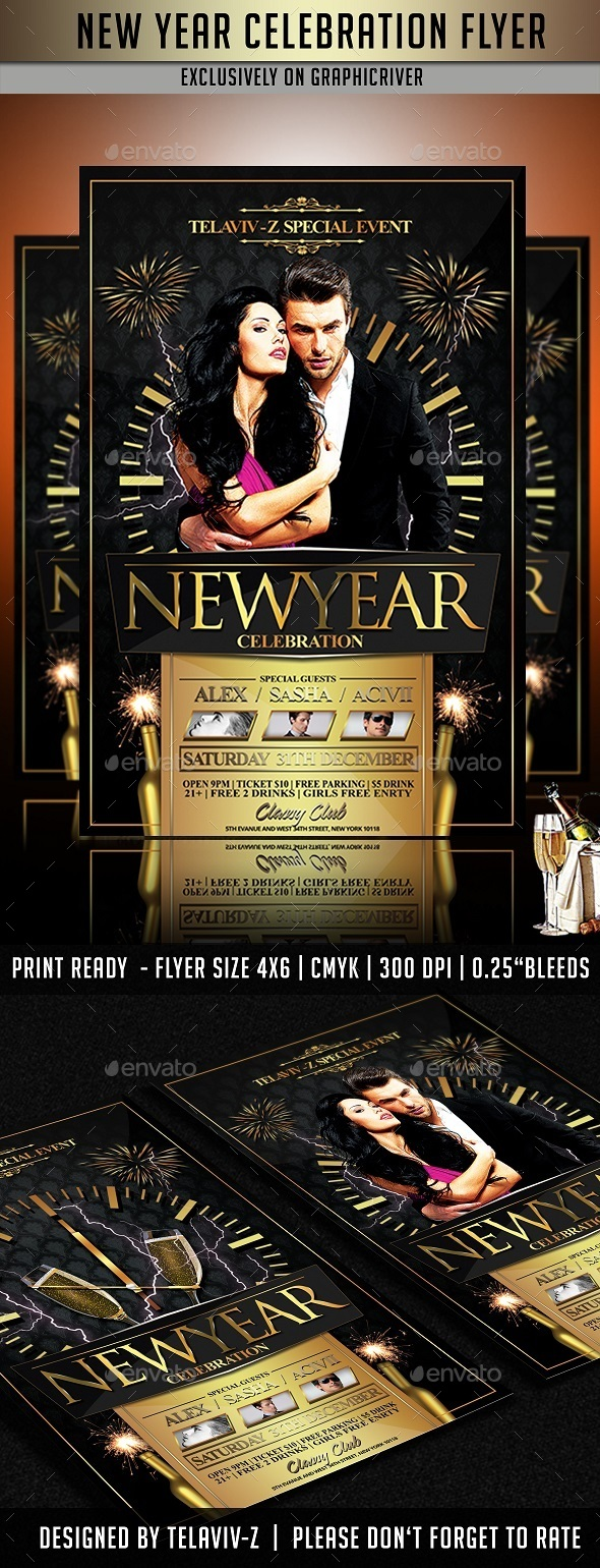 GraphicRiver New Year Celebration Flyer Template 9806330
