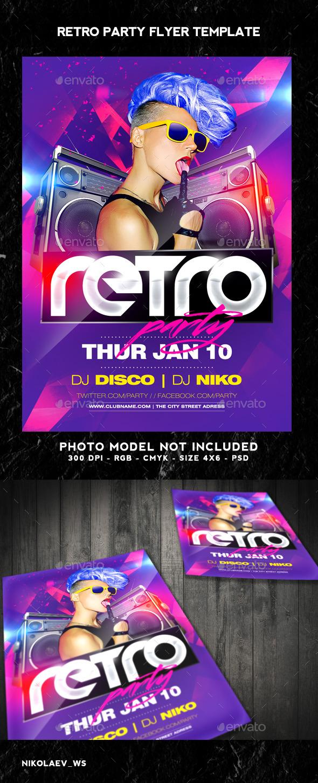 GraphicRiver Retro Party Flyer 9806606