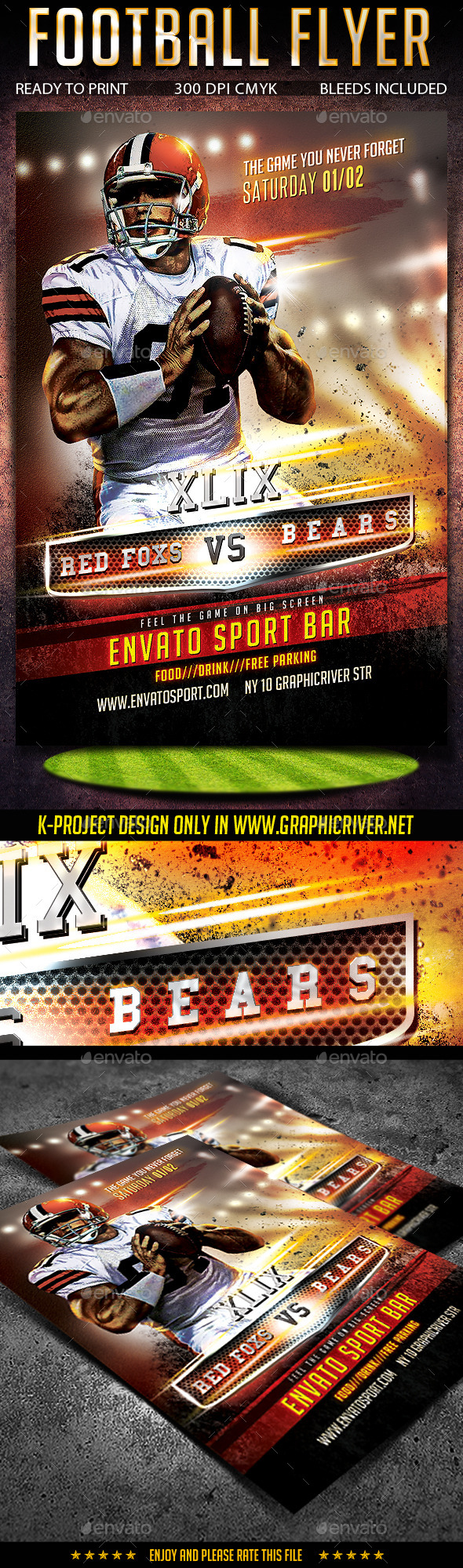 GraphicRiver Football Flyer 9806645