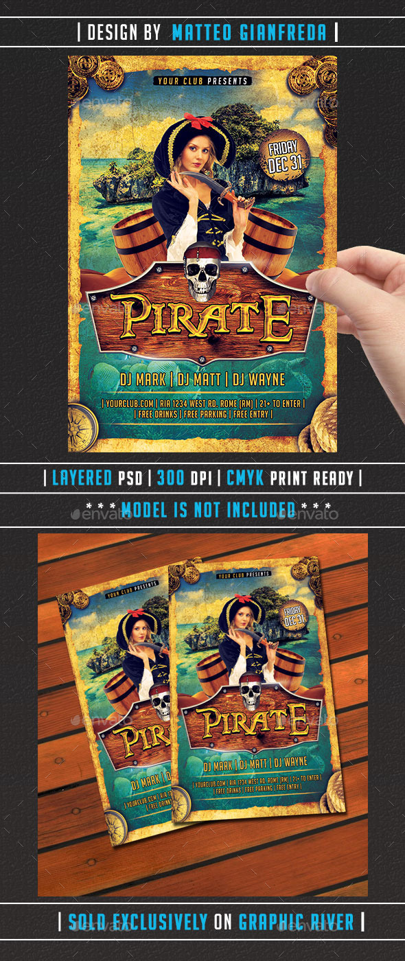 GraphicRiver Pirate Party Flyer 9764453
