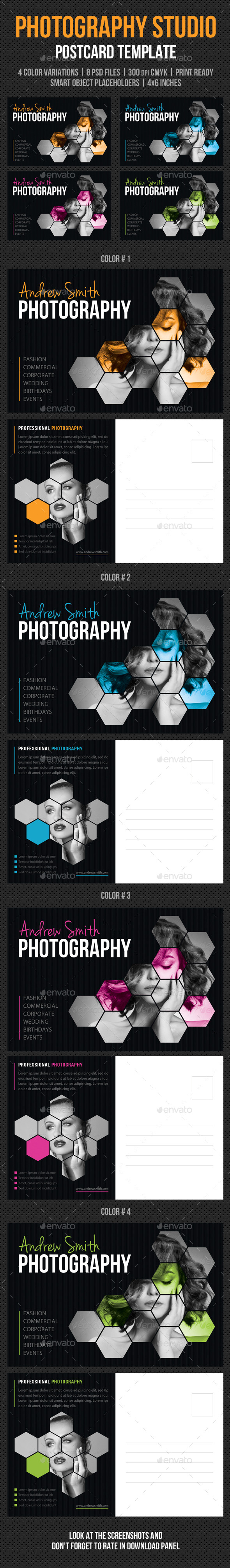 GraphicRiver Photography Studio Postcard Template V01 9806734