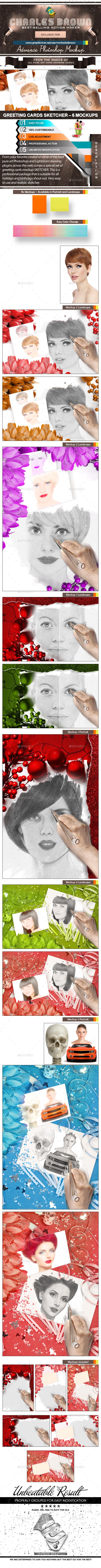 Greeting Cards Sketcher 6 Mockups