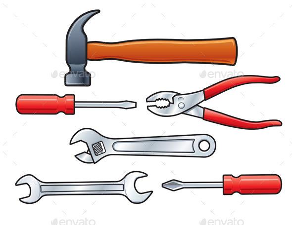 GraphicRiver Set of Six Hand Tools 9806872