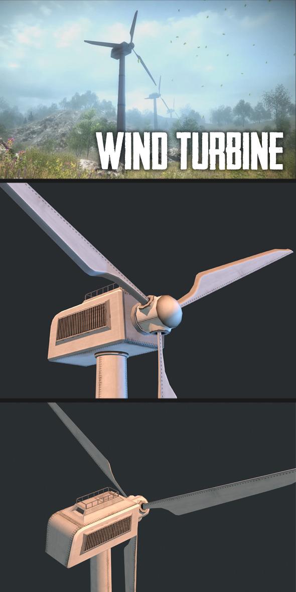 3DOcean Wind Turbine 9807295