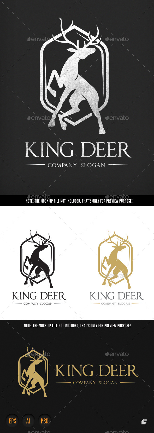 GraphicRiver King Deer 9807523