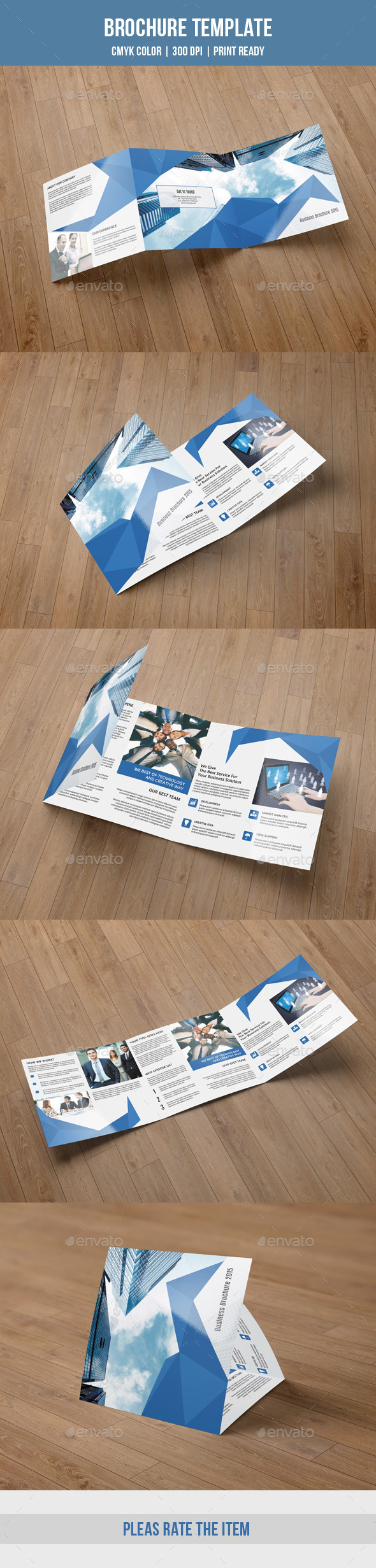 GraphicRiver Abstract Square Bifold Brochure-V54 9807931