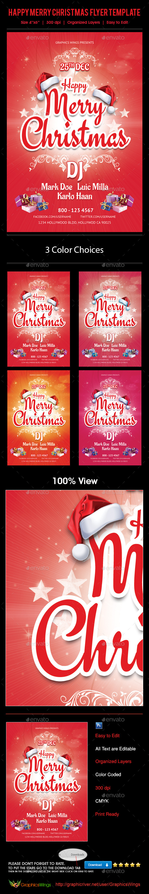 GraphicRiver Happy Christmas Flyer Template 9769843