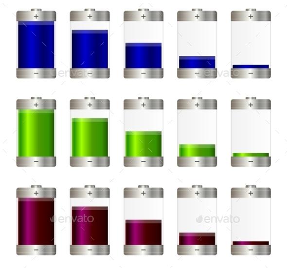 GraphicRiver AA Batteries Set 9808149