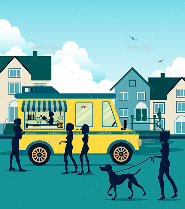 GraphicRiver Food Truck 9808179