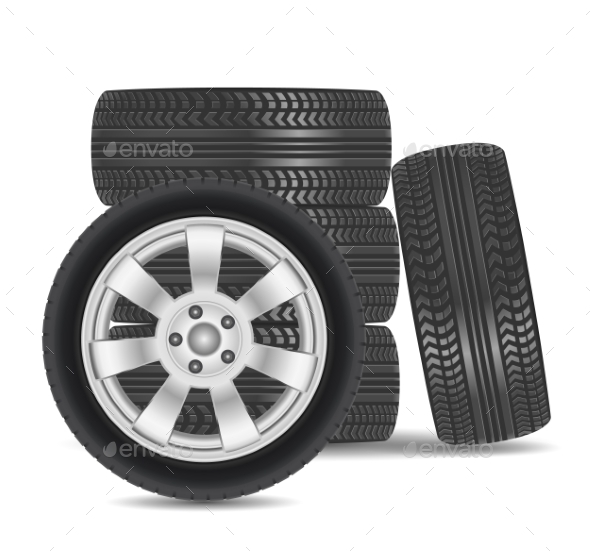 GraphicRiver Rubber Tire Icon 9808306