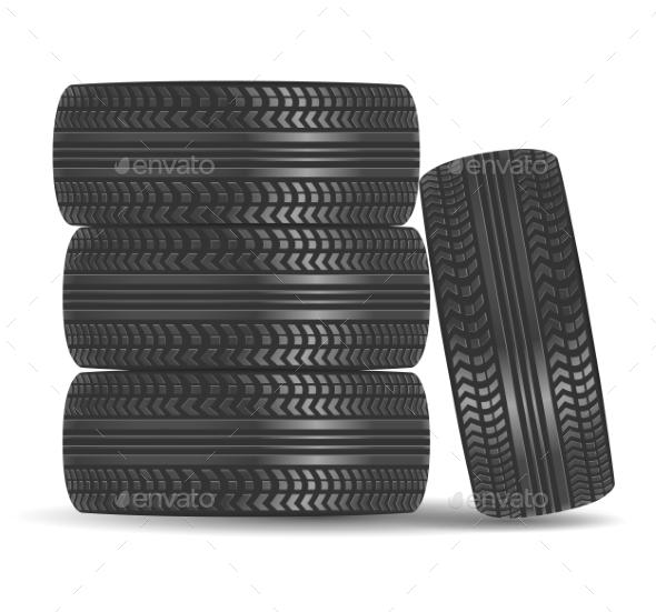 GraphicRiver Rubber Tire Icon 9808325
