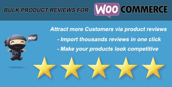 CodeCanyon Woo Bulk Product Reviews Import 9768754