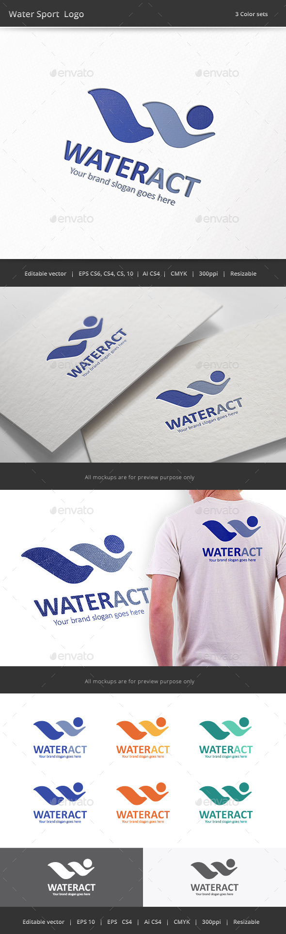 GraphicRiver Water Sport Logo 9808464