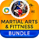 Martial Arts & Fitness Banner Bundle - 3 Sets - GraphicRiver Item for Sale