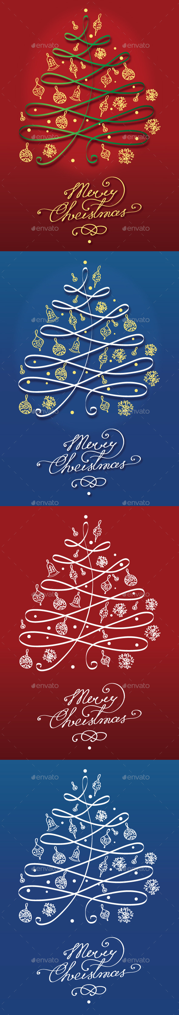 GraphicRiver Christmas Tree Background 9808713