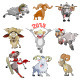 Cartoon Sheep and Rams - GraphicRiver Item for Sale