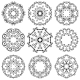 Round Ornament Set. Template for your Design. - GraphicRiver Item for Sale