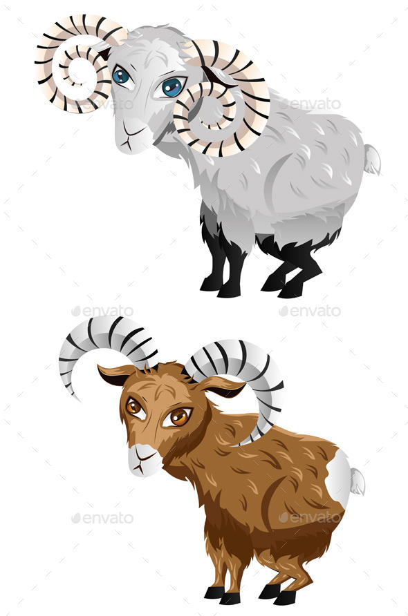 GraphicRiver Cartoon Ram 9808869