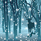 Stag in Winter Forest - GraphicRiver Item for Sale