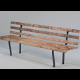 Park or garden Bench, with UV layout imag - 3DOcean Item for Sale