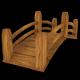 Low Poly Wooden Bridge (Gardens, Parks, Game Asset - 3DOcean Item for Sale